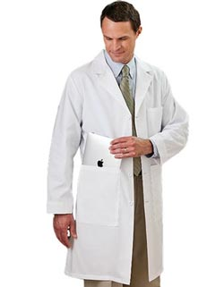 White Swan Meta 40 inch Unisex Colored Medical Lab Coats