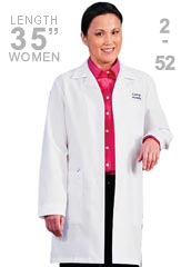 ME-6150-White Swan Meta Women 35 Inch Medical Lab Coat