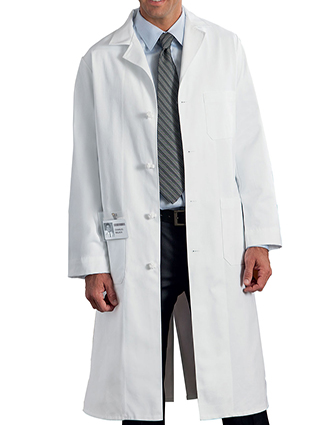ME-798-Clearance Sale! Meta Gent's 45 inch Three Pockets Knot Buttoned Lab Coat