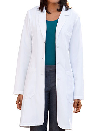 ME-883-Meta Pro Women's 32 Inches Buckle Tri-Blend Stretch Fashion Labcoat