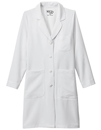 ME-894-Meta Pro Women's 37 Inches Stretch Long Labcoat