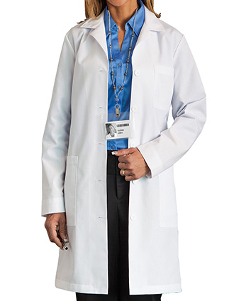 ME-C161-Clearance Sale! White Swan Meta 37 inch Five Pockets Women Medical Lab Coat
