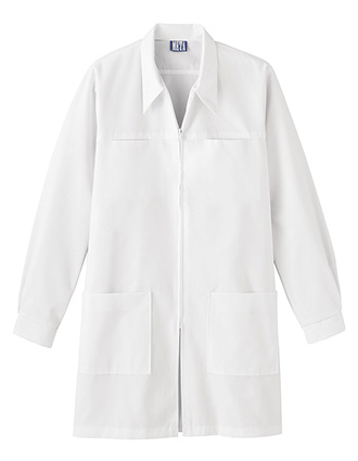 ME-C6600-Clearance Sale! White Swan Meta Unisex Zip Front 36 Inch Long Lab Coat