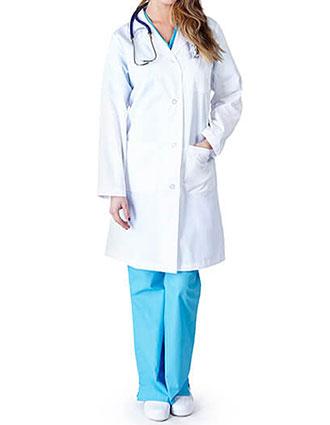 92e98a874b1 NA-1516-Natural Uniforms 41 Inch Women's 3 Pocket Long Lab Coat