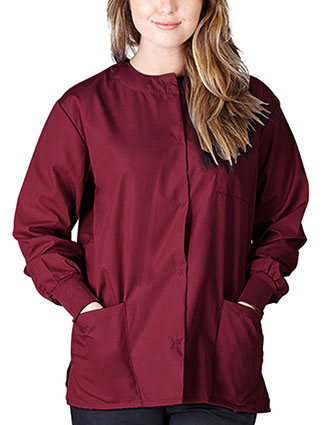 NA-G102-Natural Uniforms Women Snap Front Scrub Jacket