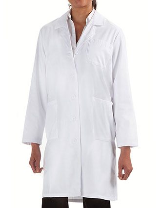 PR-5720-Prestige 36.5 Inch Women's Back Belt Long Lab Coat