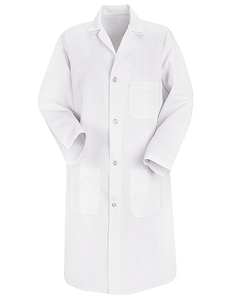 RE-5700WH-Red Kap 41.5 inch Three Pockets Men Long White Lab Coat