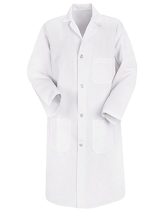 RE-C5700WH-Clearance Sale! Red Kap 41.5 inch Three Pockets Men Long White Lab Coat