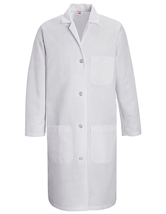 RE-CKT33WH-Clearance Sale! Red Kap 38.25 inch Three Pockets Women Staff Medical Lab Coat