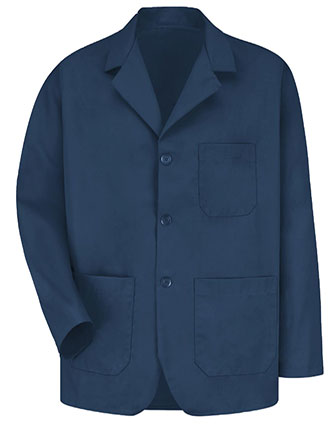RE-KP10NV-Red Kap 30 Inch Men's Three Button Front Navy Colored Counter Coat
