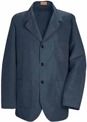 RE-KP10NV-Red Kap 30 inch Three Button Front Navy Colored Men Counter Coat