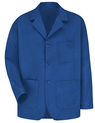 RE-KP10RB-Red Kap Men's 30 Inches Three Button Front Royal Blue Counter Coat