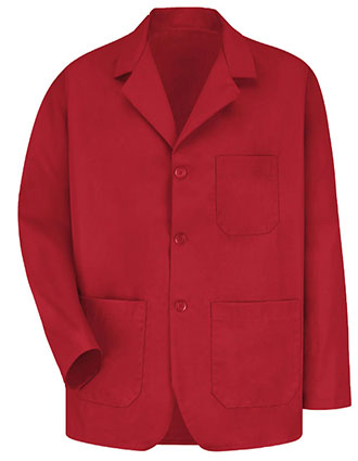 RE-KP10RD-Clearance Sale! Red Kap 30 inch Three Button Front Red Men Counter Coat