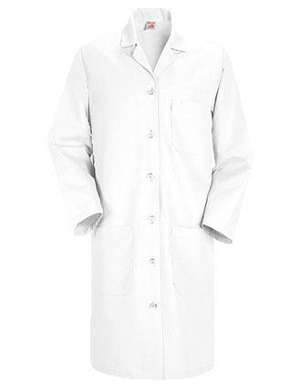 RE-KP13WH-Red Kap 38.25 inch Four Pockets Women Long Medical Lab Coat