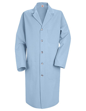 RE-KP14LB-Red Kap 41.5 inch Three Pockets Light Blue Mens Colored Lab Coat