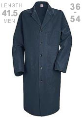 RE-KP14NV-Red Kap 41.5 inch Three Pockets Men Navy Colored Lab Coat