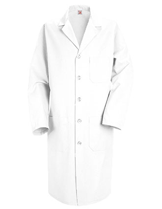 RE-KP14WH-Red Kap Men's 41.5 Inches Five Button Three Pocket Long Medical Lab Coat