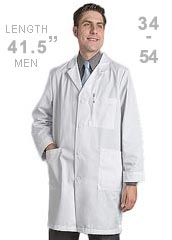 RE-KP14WH-Red Kap Mens 41.5 inch Five Button Three Pocket Long Medical Lab Coat