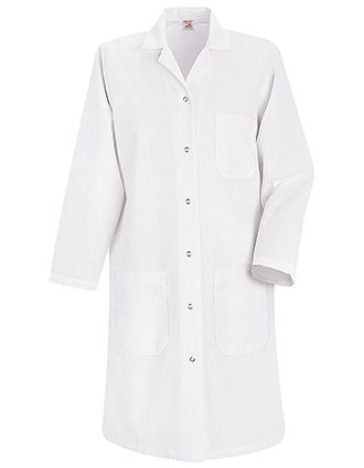 RE-KP15WH-Red Kap 38.25 inch Six Button Front Women Medical Lab Coat