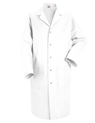 RE-KP18WH-Red Kap Mens 41.5 Inches Color Lab Coat