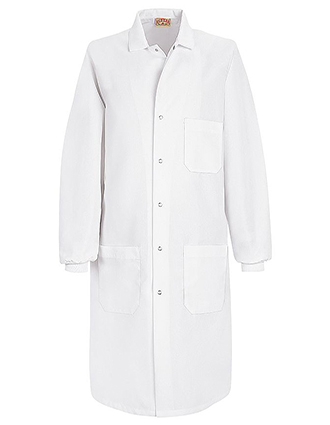 RE-KP70-Red Kap 41.5 Inch Unisex Three Pockets Cuffed Specialized Long Lab Coat