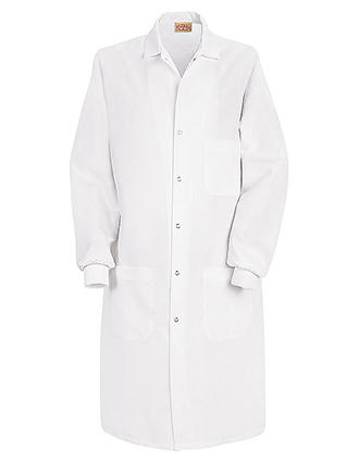 RE-KP72-Red Kap 41.5 Inch Unisex Three Pocket Specialized Cuffed White Lab Coat
