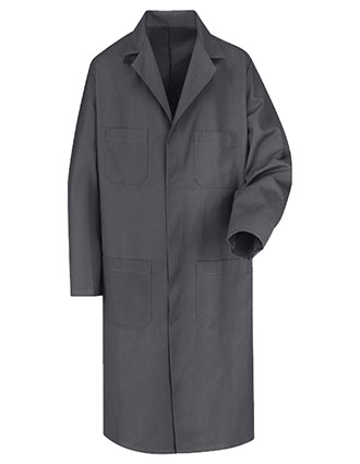 RE-KT30CH-Red Kap Men's 43.75 Inches Four Pockets Charcoal Long Shop Coat