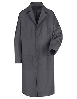Red Kap Men's 43.75 Inches Four Pockets Charcoal Long Shop Coat