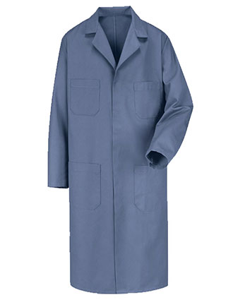 RE-KT30PB-Red Kap Men 43.75 Inches Postman Blue Shop Coat