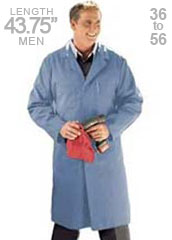 RE-KT30PB-Red Kap Men 43.75 inch Shop Coat in Postman Blue