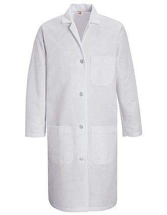RE-KT33WH-Red Kap 38.25 inch Three Pockets Women Staff Medical Lab Coat