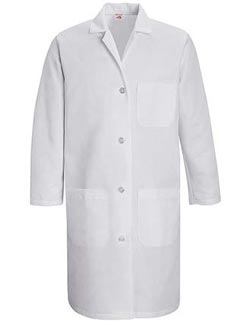 Red Kap 38.25 inch Three Pockets Women Staff Medical Lab Coat