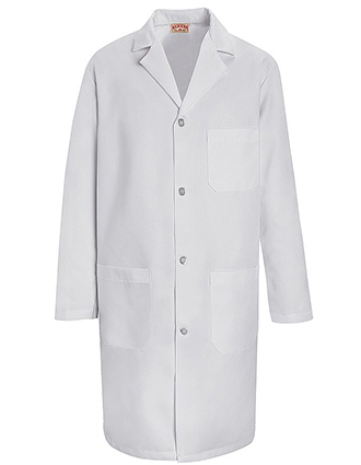 RE-KT34WH-Red Kap 39 Inch Men's Two Pockets Staff Medical Lab Coat