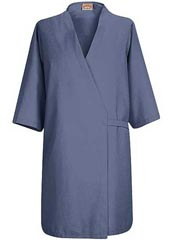 RE-WP18NV-Red Kap 37 inch Pocketless Butcher Wrap Unisex Navy Colored Lab Coat