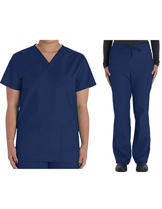 VI-VT501C-Vital Threads Unisex V-Neck Scrub Sets
