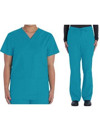 VI-VT505C-Vital Threads Unisex V-Neck Scrub Sets