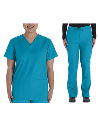VI-VT526C-Vital threads Unisex Solid Scrub Set