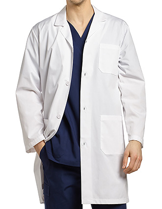 WH-2068-White Cross 42 Inch Men's Iconic Long Lab Coat