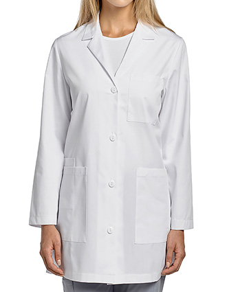 WH-2411-White Cross 32 inches Women's Short Lab Coat