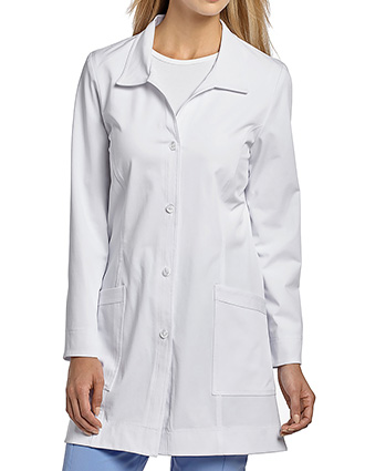 WH-2418-White Cross 32 Inch Marvella Women's Princess Seam Short Lab Coats