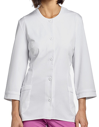 WH-2479-White Cross 29.6 Inches Marvella Women's Jewel Neckline Lab Jacket
