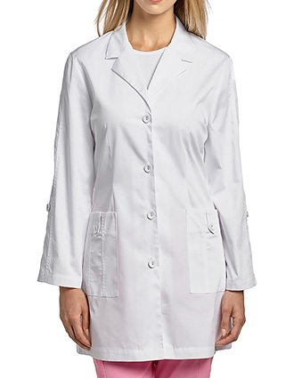 WH-2490-White Cross 30 Inches Women's Stretch Twill Labcoat