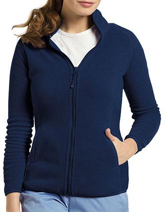 WH-448-White Cross 26.5 Inch Women's Polar Fleece Zip Front Warm-up Jacket