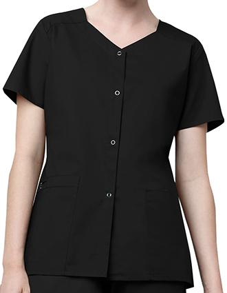 WI-200-WonderWink WonderWork Women's Short Sleeve Snap Jacket