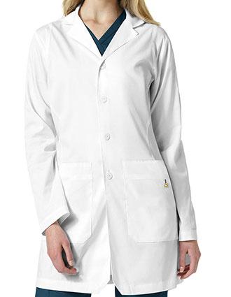 WI-7019-Wonderwink 35.5 Inch Women's BRISTOL Stylized Collar Lab Coat