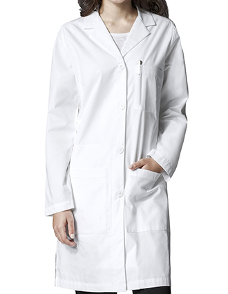 WI-7402-Wink Scrubs 38 Inch Women's Long Lab Coat