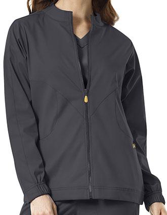 WI-8119-WonderWink Next 27.5 Inch Women's Boston Zip Front Warm-up Jacket
