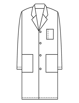 XL-1005-Made To Order Unisex 40 Inch Three Pocket Long Lab Coat