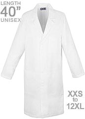 XL-1006-Three Pockets Long Unisex Medical Lab Coat