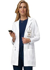 XL-1009-Four Pockets Women Colored Lab Coats